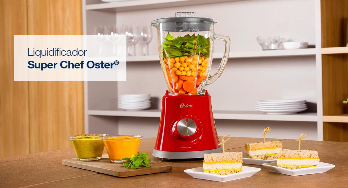 Liquidificador Super Chef Oster Vermelho